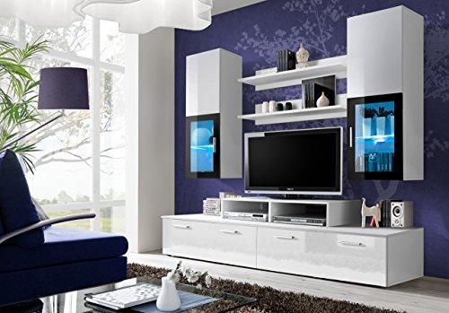 BMF-MINI-STYLE-Wohnwand-Anbauwand-WohnzimmerSchlafzimmerSTUDIO-Set-flach-Mbel-LED-Schrnke-nur-von-BMF-MINIWHITE