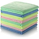 Sundix(TM) 2in1 Microfiber Magic Cleaning Cloth -High Absorbent Lint and Streak-Free, For Household Cleaning, Kitchen, Car, Windows and More! (Pack of 8, 4-Colors)