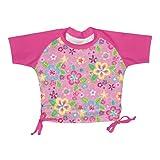 iPlay manga corta camiseta Bañador Protección UV 50+ rushgard 24meses Flower Field niña