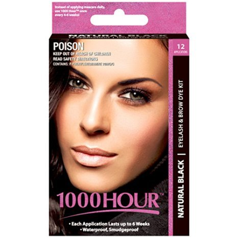1000 Hour Eyelash & Brow Dye / Tint Kit Permanent Mascara (Black) (Dye Eyes compare prices)