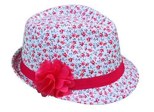 Simplicity Kids' Fedora Hat w/Flower Band