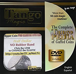 MMS Flipper Coin Pro Elastic System (Half Dollar DVD with Gimmick) (D0089) by Tango - Trick