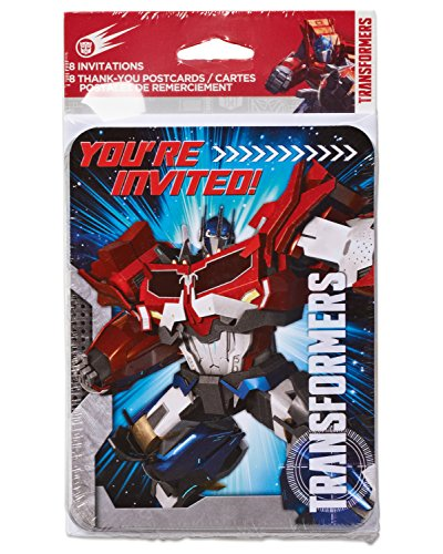 American Greetings Transformers Invite & Thank You Combo Set (8 Pack) - 1