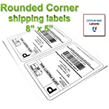 200 Rounded Corner Shipping Labels - Matte White - Super Sticker - 100 Sheets - Perfect for Shipping Online Labels