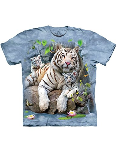 White Tiger with Rare Pair Of Cubs Bengal Blue T-Shirt