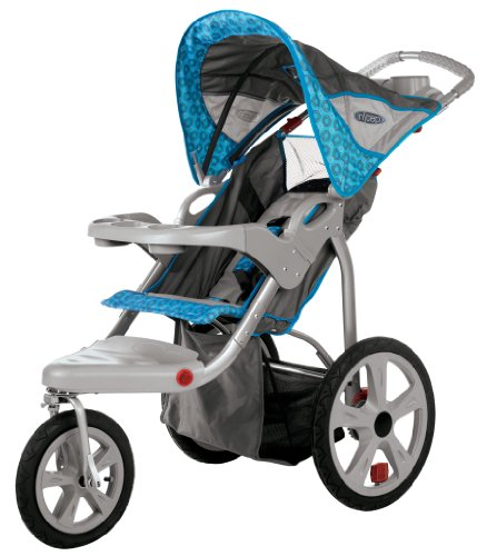 InStep Safari Single Swivel Stroller, Blue - 1