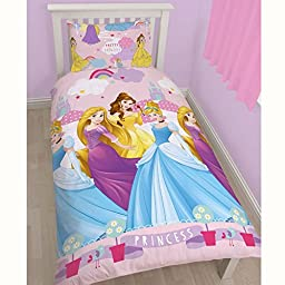 Disney Princess Enchanting Single/US Twin Rotary Duvet Set + Disney Princess Small Foil Stickers