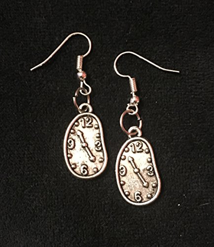 Salvador Dali inspired Melting Clock french hook charm earrings - The Persistence of Memory