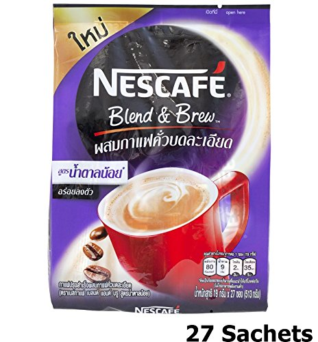 Nescafe Blend & Brew Low Sugar (Pack of 27 Sachets) 3 in 1 Instant Coffee 25% Less Sugar (Nespresso K Cups compare prices)