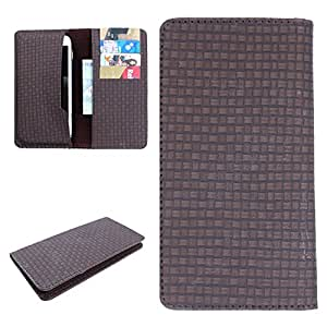 DooDa PU Leather Case Cover For Lava Iris X1 (Brown)
