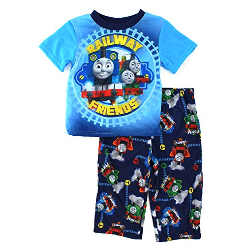 Thomas Train Boys Blue Poly Pajamas