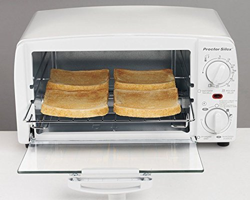 Proctor Silex 4 slice Toaster Oven, White (Toaster Oven Proctor Silex Broil compare prices)