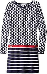 kc parker Big Girls' Geometric Knit Pattern Sweater Dress