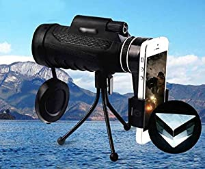 Monocular telescope monoculars scope with phone clip and