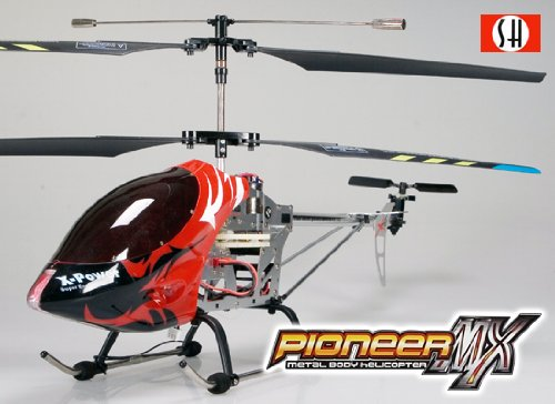 Pioneer MX 8827 3 Channel Pro Gyroscope Infrared Radio Remote Control Metal Body Helicopter (Large) RED