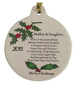 Amazon.com - Mother & Daughter 2015 Porcelain Christmas ...