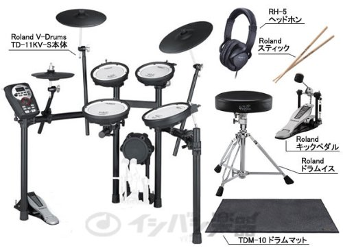 Roland 電子ドラム TD-11KV-S ドラムマット付き純正スタートセット
