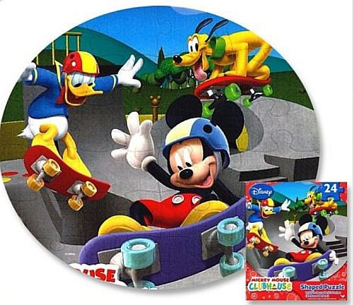 Mickey Mouse Clubhouse Shaped Jigsaw Puzzle - 24 Pieces - 1
