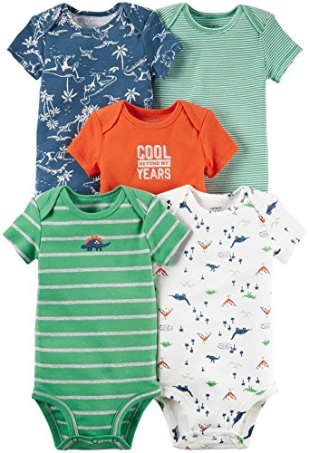 Carter's Baby Boys Multi-Pack Bodysuits 126g333, Assorted, 18 Months