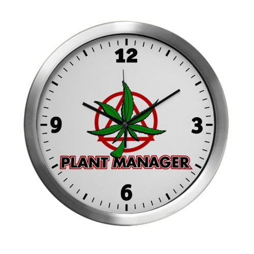 Modern Wall Clock Marijuana Plant Manager