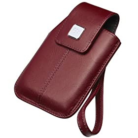 BlackBerry Leather Tote for BlackBerry Storm 9500 (Dark Red)