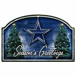 NFL Dallas Cowboys 11-by-17 Wood Sign Season's Greetings
