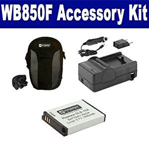 Samsung WB850F Digital Camera Accessory Kit includes: SDC-22 Case, SDSLB10A Battery, SDM-1501 Charger