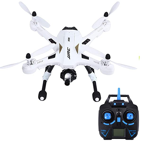 jkbfyt Camera Drone,H26D RC Drones Dron 6 Axis Gyro 2.4GHz 4CH RC Quadcopter with 5.0MP Wide Angle Camera 360 Degree Eversion Helicopter Toys (Color: White)