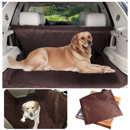 Seat Covers Pet Dog Waterproof Car Back Seat Oxford Cover, Large Brown Travel Auto Protector covers for trucks girls baby woman dog suv dogs Brown (2007 F150 Seat Covers Orange compare prices)