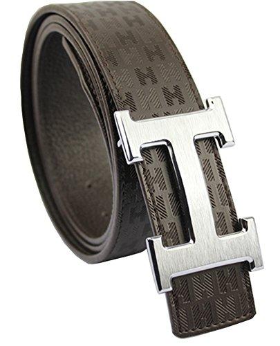 suptec-ceinture-homme-brown-silver-buckle