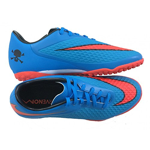 Men's Nike Hypervenom Phelon (TF) Turf Soccer Shoe Clearwater/Blue/Crimson Size 8 M US