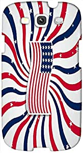 Timpax Light Weight Hard Back Case Cover Printed Design : A colourful flag.Exactly Design For : Samsung I9300 Galaxy S III ( S3 )