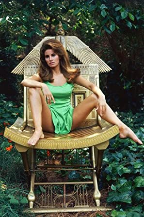 Raquel Welch Sitting Legs Apart 24X36 Poster at Amazon's Entertainment