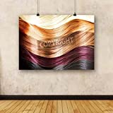 ArtzFolio Hair Colors Palette Hair Texture Canvas Art Print without Frame - Size 65.0 inch x 47.4 inch