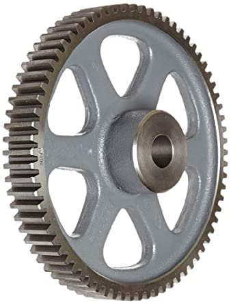 Boston Gear Spur Gear, 14.5 Pressure Angle, Cast Iron, Inch, 8 Pitch