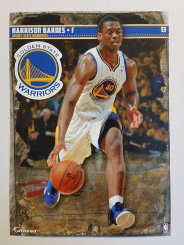 Golden State Warriors Mini Felt Pennant & Harrison Barnes Mini Fathead
