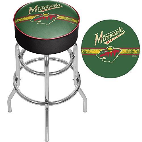 Trademark Gameroom Nhl Minnesota Wild Chrome Bar Stool