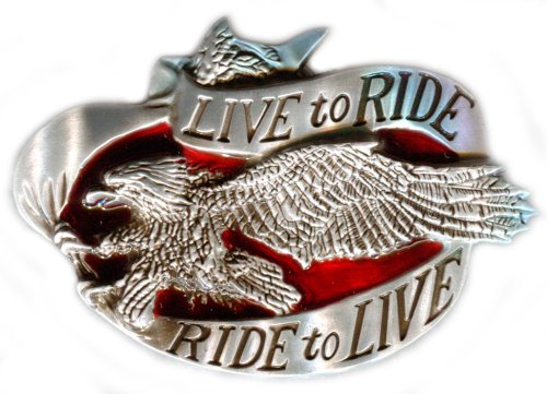 Live To Ride, Ride To Live Die Cast Belt Buckle