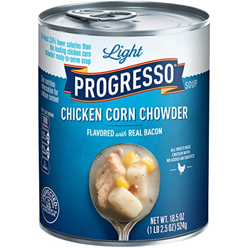 Progresso Light Soup, Chicken Corn Chowder with Bacon Soup, 18.5-Ounce Cans (Pack of 12) (Progresso Chicken Corn Chowder compare prices)
