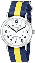 Timex Unisex TW2P677009J Weekender Varsity Row Analog Display Quartz Blue Watch