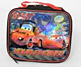 Disney Pixar Cars 2 Insulated Lunch Bag. Start Your Engines Design.