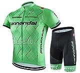 サイクルジャージ サイクルウェア 2016 上下セット メンズ 半袖 春夏用 自転車ウェア サイクリングウェア (L, D-9)