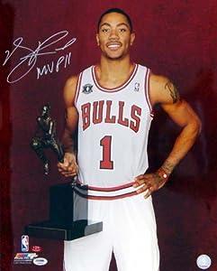 Derrick Rose Autographed Chicago Bulls 16x20 Photo MVP 11 #4 PSA DNA
