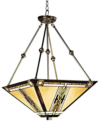 Walnut Mission Style Pendant Chandelier Robert Louis