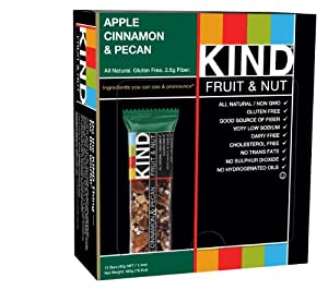 KIND Fruit & Nut, Apple Cinnamon & Pecan, Gluten Free Bars, 1.4 Ounce (Pack of 12)