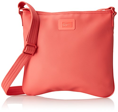 Lacoste Women's Classic Flat Crossover Cross Body Bag, Deep Sea Coral, One Size