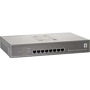 Commutateur réseau LEVELONE FEP-0811 8 Ports Fast Ethernet PoE-Plus Switch