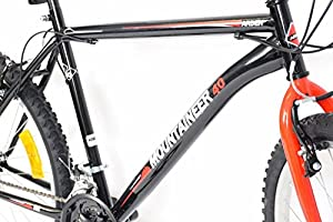 "Cheapest Mens Mountaineer 26"" Wheel Mountain Bike 21 Speed Black/red"