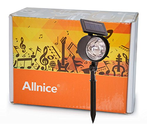 Allnice® Automatically Turns On At Night Upgated Pollution-Free Projection Solar Powered Flood Garden Lights Lawn Courtyard Street Landscape Lamp Spotlight 4 Led Solar Lights/Lamps
