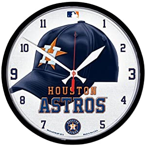 Houston Astros MLB Round Wall Clock - WIN-2904813 by WinCraft